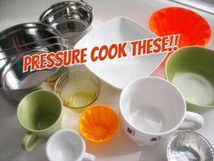 The best pressure cooker accessories are in your own kitchen.  Open the cupboards and dig out any heat-safe or oven-proof container to make pressure cooker sweets.. and more!