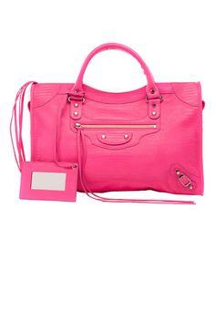 Fluo classic city bag, Balenciaga, $1,445;