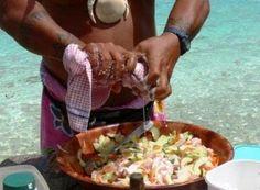 Poisson Cru, or E'ia Ota, Recipe (Tahitian lime-marinated tuna)