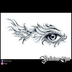 37 ideas for eye tattoo design clock Art Drawings Sketches, Tattoo Sketches, Tattoo Drawings, Body Art Tattoos, Wing Tattoos, Drawing Art, Horus Tattoo, Sketch Tattoo Design, Wing Tattoo Designs