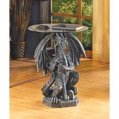 Guarding Dragon Accent Table | $149.95 | Lexi's Kreationz, LLC…