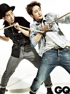 Baro and Jinyoung of B1A4.