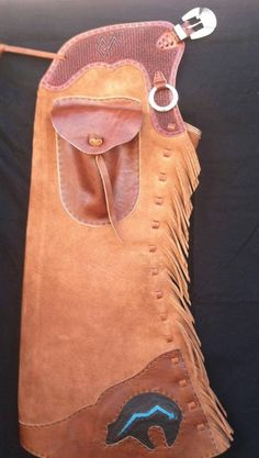 Ty Barton Handmade Step In Leggins with Hardware by Ralph Lopez of New Mexico. Handmade Leather, Leather Craft, Working Gear, Shotgun Chaps, Saddle Tramp, Cowboy Gear, Cowboy Christmas, Leather Workshop, Leather Stamps