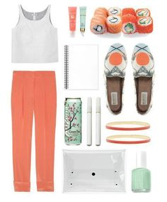 summer time coral and mint outfit!