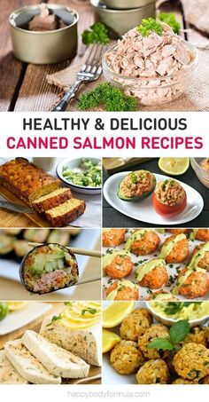 The Best Healthy Canned Salmon Recipes - Happy Body Formula- Healthy & Delicious Canned Salmon Recipes These healthy canned salmon recipes are nutritious, jam-packed with protein and for easy and budget-friendly meals. Canned Salmon Recipes, Healthy Salmon Recipes, Lunch Recipes, Seafood Recipes, Paleo Recipes, Cooking Recipes, Canned Salmon Salad, Budget Recipes, Sandwich Recipes