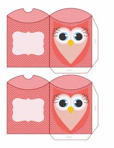 pink owl boxes   Dari RD   Pinterest   Pink owl, Owl box and Owl pillow