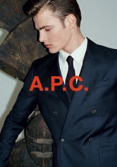 Swiss Model Jan Aeberhard by Walter Pfeiffer.for the A.P.C.Fall Winter 2013-2014 Campaign