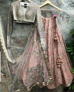 Buy Online Punjabi Wedding Lehenga Designer Collection Call/ WhatsApp us 77164 Indian Fashion Dresses, Indian Bridal Outfits, Indian Gowns Dresses, Dress Indian Style, Indian Designer Outfits, Indian Outfits Modern, Pakistani Dresses, Fashion Outfits, Designer Bridal Lehenga