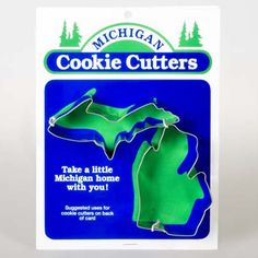 Michigan Cookie Cutter with Upper Peninsula and Lower Peninsula