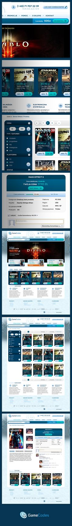 Gamecodes by Michal Rome, via Behance
