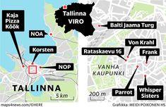 Tallinna tunnetaan upeasta ravintolatarjonnastaan – Listasimme 10 ruokapaikkaa, joissa kannattaa syödä juuri nyt - Ulkomaat - Helsingin Sanomat Sisters, Map, Location Map, Maps