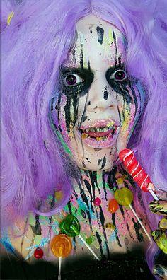 The Seven Deadly Sins - G L U T T O N Y Instagram: amanda.whoo.makeup #gluttony #sevendeadlysins #fxmakeup #bodypaint #sugar #monster