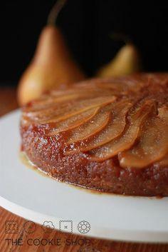bolo invertido de peras