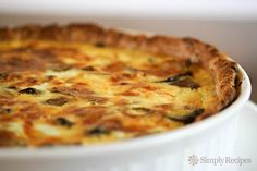 over-the-top mushroom quiche - *gasp!* Does this mean I can make my ...