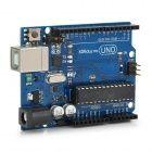 UNO R3 Desarrollo Junta microcontrolador MEGA328P ATMEGA16U2 Compat para Arduino - Azul + Negro