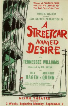 A Streetcar Named Desire - Broadway Poster , 1947 Masterprint
