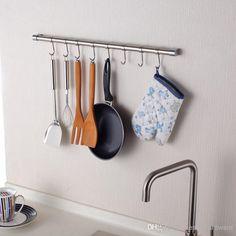 IKEA Style 55cm Hanging Rod And 8 Hooks Kitchen Storage Rack,K1, $15.71