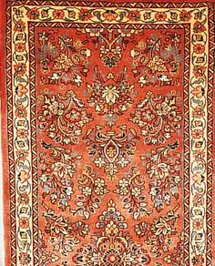 Sarogh,Persien ca 210 x 84 cm. Flor Wolle
