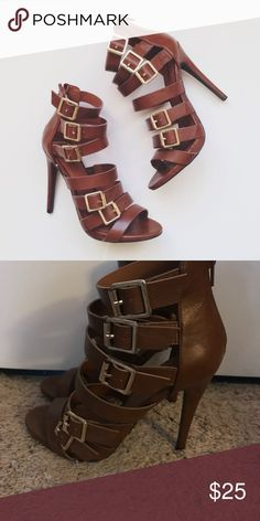 Mossimo Strappy Gladiator Heels Mossimo Strappy Gladiator Heels. Worn once. Size 9 Mossimo Supply Co Shoes Heels