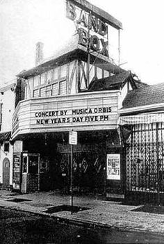 Bandbox Theatre, Armat Street, Germantown, Phila, PA. 1950s (at least) to the 1970s.