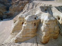 The Caves of Qumran, where the dead sea scrolls were found.  I don't think we were supposed to climb up into the caves, but we did anyway.