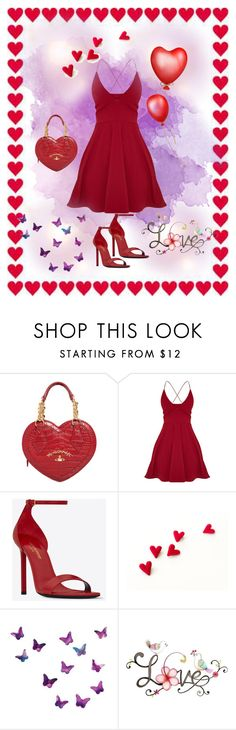 """""""Be my Valentine ❤️"""" by neesyrn ❤ liked on Polyvore featuring Vivienne Westwood, Yves Saint Laurent and WALL"""