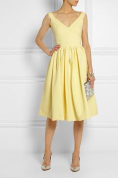 If only I could pull off a deep V-neck dress. Sigh.  Preen by Thornton Bregazzi| Flo stretch-crepe dress