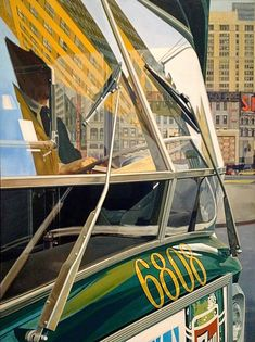 Bus Window, 1973 by Richard Estes on Curiator, the world's biggest collaborative art collection. Window Reflection, Light Reflection, Illinois, Hyper Realistic Paintings, Chicago Art, Digital Museum, Collaborative Art, Automotive Art, City Art