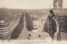 #photo Le bld Beaumarchais & le bld Richard-Lenoir vus depuis la Colonne de Juillet, place de la Bastille, vers 1900 #PEAV #Paris11