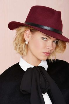 Below the Belt Panama Hat - Wine | Shop Hair + Hats at Nasty Gal