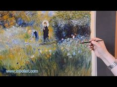 Renoir - Woman with a Parasol in a Garden | Art Reproduction Oil Painting - YouTube