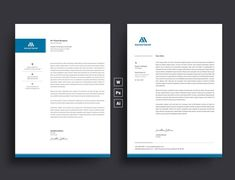 Letterhead Template with super modern and Corporate look. Corporate Letterhead page designs are very easy to use and customize, so you can quickly tailor-make your letterhead for any opportunity. Use this letterhead template for company or corporate use. Company Letterhead, Letterhead Design, Letterhead Template, Resume Templates, Corporate Stationary, Professional Letterhead, Design Package, Proposal Letter, Identity