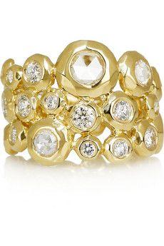 Ippolita, Glitterati 18-karat gold diamond ring! Want one.