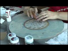 Tutorial - Ceas Shabby Chic si Decoupage 12.10.2013 - YouTube