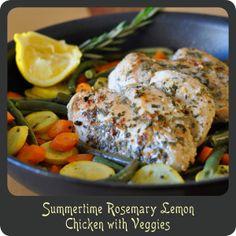 Summertime Rosemary Lemon Chicken with Veggies—One pot dinner in under 25 minutes!