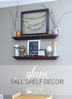 Gorgeous glam fall decor-- learn how to get a high end look for less! | Just a Girl and Her Blog