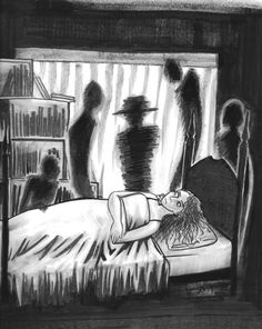 Inktober day 22 Another sleep paralysis drawing. I think I will do a series.