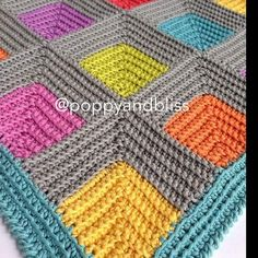 Tunisian Crochet Stitches, Crochet Ripple, Rainbow Crochet, Crochet Squares, Crochet Motif, Crochet Designs, Crochet Granny, Crochet Baby, Afghan Crochet Patterns