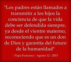 ¡Un hijo es un regalo de Dios!  Lee más en: www.news.va/es/news/papa-francisco-heraldos-de-la-fe-de-la-vida-en-tod