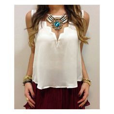 Stylish Round Neck Sleeveless See Through Chiffon Women s Tank Top ($12) ❤ liked on Polyvore featuring tops, white, sheer top, chiffon tank, chiffon tank top, sheer white tank top and sleeveless tops