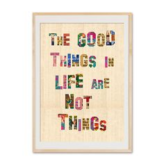 Originaldruck - The good things in life are not things - Poster - ein Designerstück von VintagePaperGoods bei DaWanda