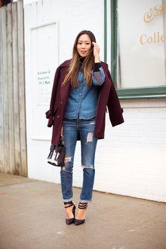 Plac Jeans coat, AG jeans, Cynthia Vincent shoes
