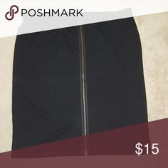 SEXY BLACK PENCIL SKIRT Super cute lane Bryant sexy black pencil skirt sz 24. Skirt has a zipper detailing on the front and have stretch to hug your curves!! Skirt worn once looks amazing!! Lane Bryant Skirts Pencil