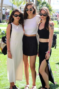 Three ways to wear monochrome at a festival...noted! #festbest