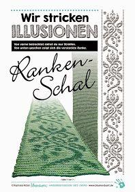 Blumenbunt: Endlich fertig!Wir stricken ILLUSIONEN — Ranken-Schal
