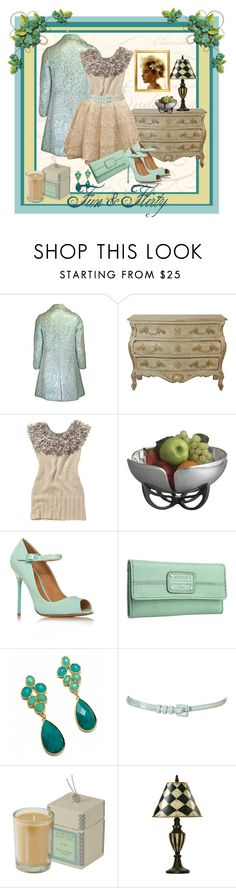 """""""Fun & Flirty"""" by pixidreams ❤ liked on Polyvore featuring Joe Browns, Full Circle, Nambé, Kurt Geiger, FOSSIL, Fantasy Jewelry Box, Topshop, Votivo, short ivory lace skirt and open toe ankle strap pumps"""