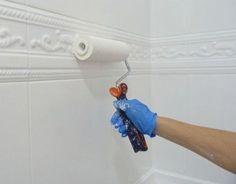 reforma de mi baño sin obras, antes y después. Renovar el baño sin obras. Pintando los azulejos del baño #decoraciondebaños