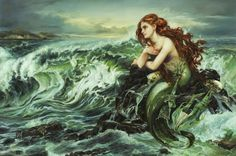 "Drawn to the Shore Ariel from Disney's ""The Little Mermaid"" by Heather Theurer"