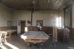 #Bodie Hotel Main Room -  Read about the best preserved ghost town in the US here: http://goroadtrippin.com/site/bodie-state-park/ #California #abandoned