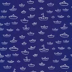 The Fleet in Navy from Seven Seas by Michéle Brummer-Everett for Cloud9 Fabrics